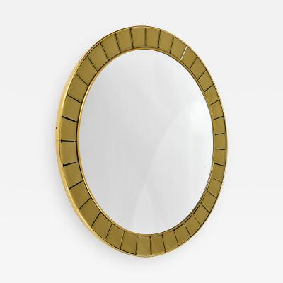 Cristal Arte Circular Mirror with bronzed bevelled glass