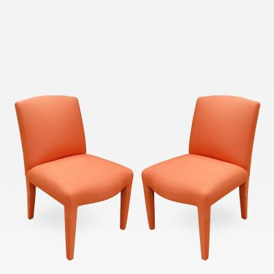 Donghia Donghia Pair of Fully Upholstered Side Chairs 1980s