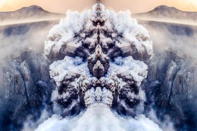 Fri rik Orn Volcanic eruption in Eyjafjallaj kull