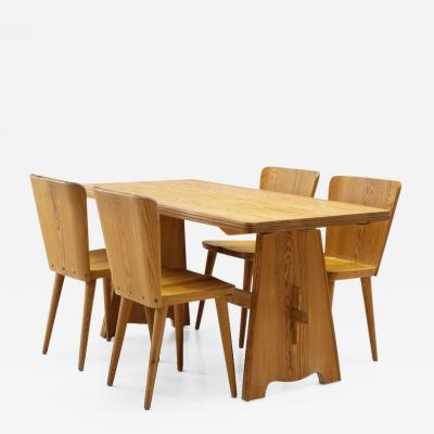 G ran Malmvall Five Piece Pine Dining Set by Goran Malmvall for Karl Andersson S ner Sweden