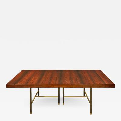 Harvey Probber Harvey Probber Dining Table in Brazilian Rosewood 1950s signed