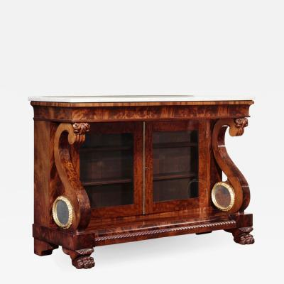 Isaac Jones Classical Carved Mahogany Drawing Room Commode