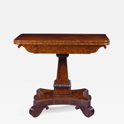 Isaac Vose Carved Mahogany Games Table