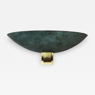 Jean Perzel Large Bronze Sconce in the style of Perzel 1950