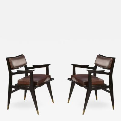 Raphael Raffel Raphael Raffel Pair of Stamped Chairs 1955 1960