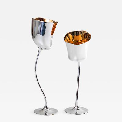 Roland Daraspe TULIPE Pair of Liquor chalices