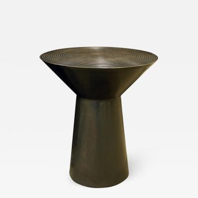 Round Side Table in Bronze 1990s