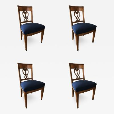 Set of Four Biedermeier Chairs Switzerland 1830