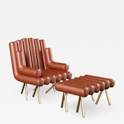 Troy Smith CUSTOMIZABLE FLUTE LOUNGE CHAIR
