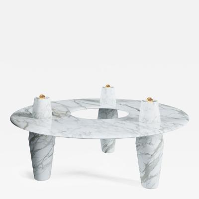 Troy Smith Contemporary Coffee Table Made From Solid Carved Marble