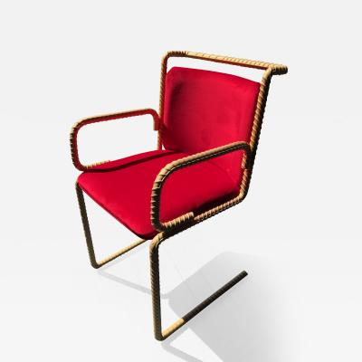 Troy Smith Contemporary Rebar Chair Designed by Artist Troy Smith
