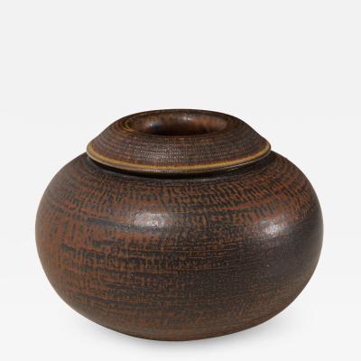 Wilhelm K ge Unique Farsta Vase by Wilhlem K ge