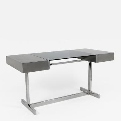 Willy Rizzo Desk in brushed steel