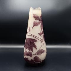 mile Gall 1900s Antique Emile Galle Art Glass Vase - 980403