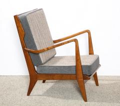 Gio Ponti Rare Pair of Open Arm Chairs by Gio Ponti for Cassina - 945210