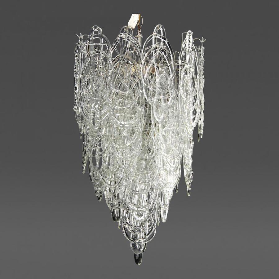 20th century illuminators 10 master lighting designers makers large mazzega multi tiered italian chandelier aloadofball Choice Image