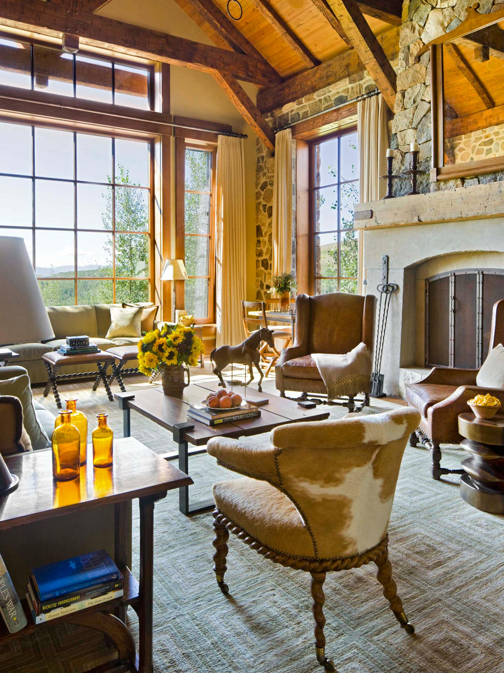 Top 4 interior design projects of the week a colorado ranch a tranquil retreat a rustic abode a bold home