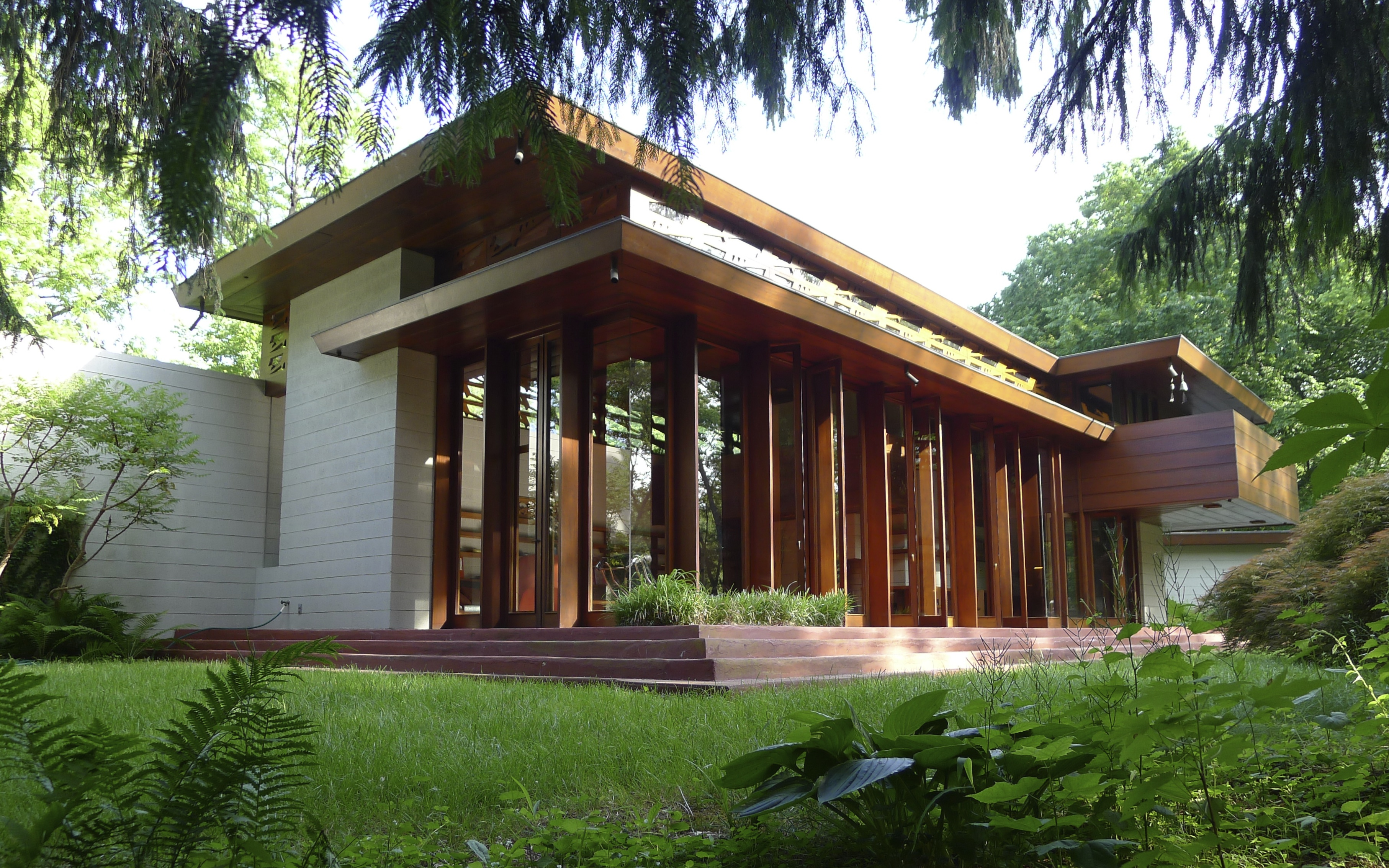 Crystal bridges will unveil frank lloyd wright s bachman for Franks homes