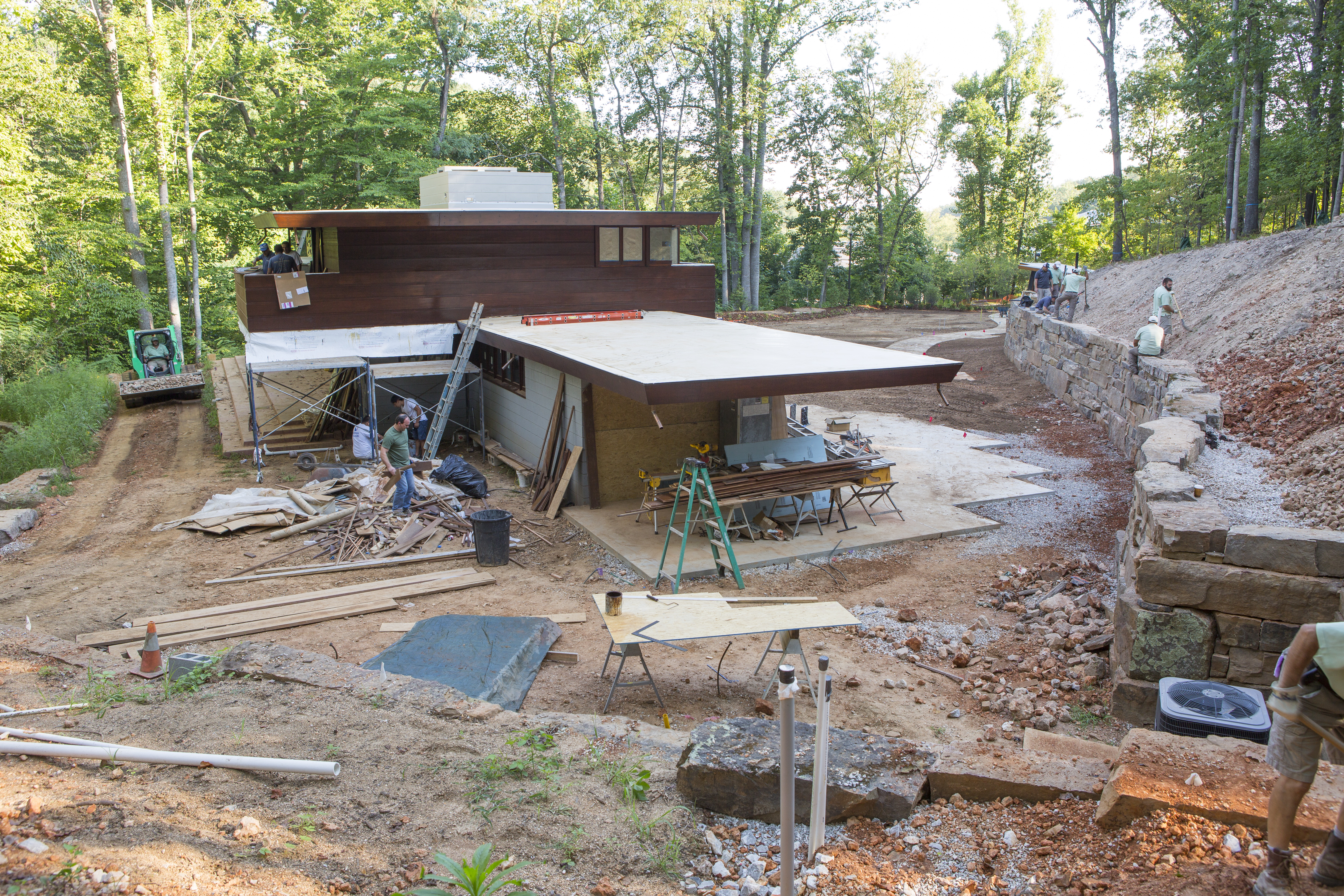 7_Reconstruction_of_FLW_House crystal bridges will unveil frank lloyd wright's bachman wilson,Bachman Wilson House Plans