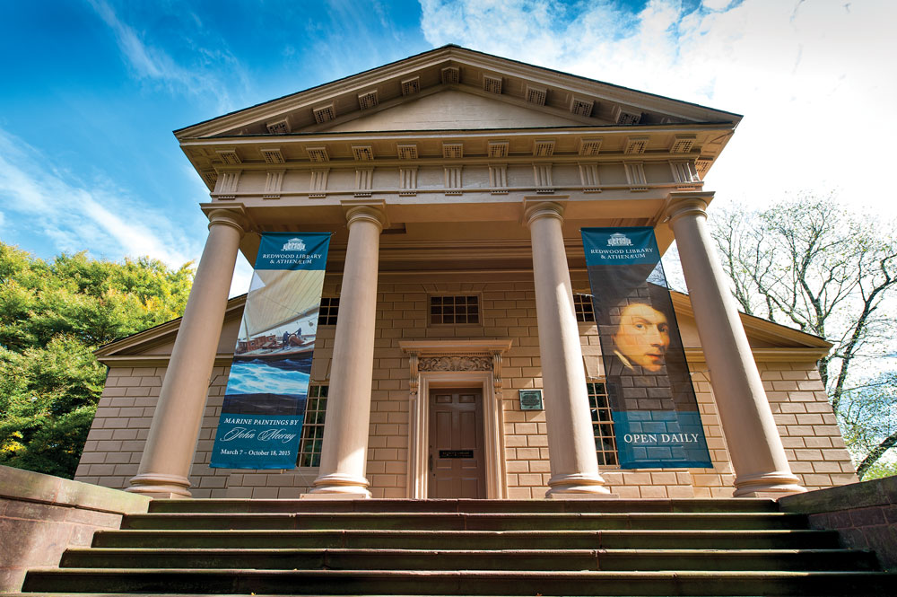 1 Redwood Library And Athenaeum In Newport RI Photograph By Andrea Hansen Courtesy Of The