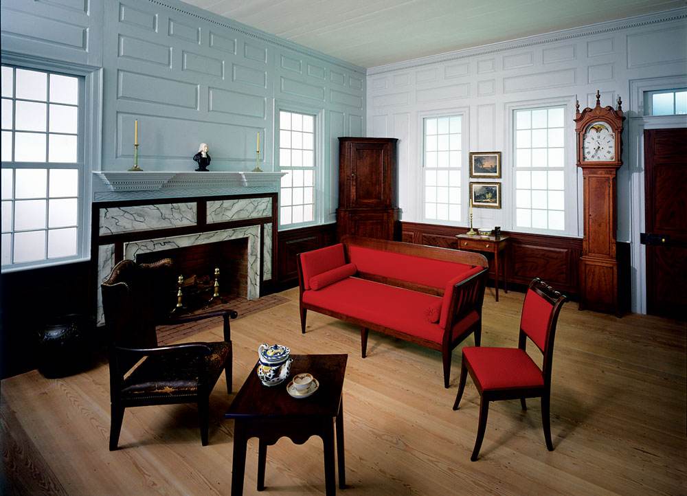Room At MESDA From A Circa 1795 House In Warrenton, Warren County, Georgia.  Displayed Are Collections From The Backcountry, Including Moravian Furniture .