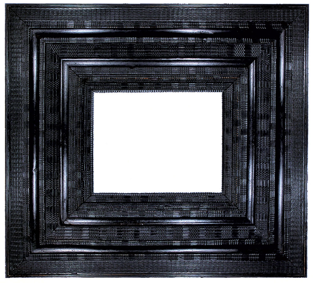 The lure of antique frames by deborah davis articles 2 carved and ebonized frame with various ripple and basketweave moldings dutch mid 17th century 16 58 x 13 inches w 12 in courtesy of lowy jeuxipadfo Image collections