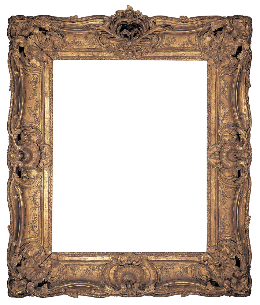 The lure of antique frames by deborah davis articles detailed exquisitely carved example of transitional louis xv style gilt double sweep frame ornamented with shell centers acanthus fan jeuxipadfo Image collections