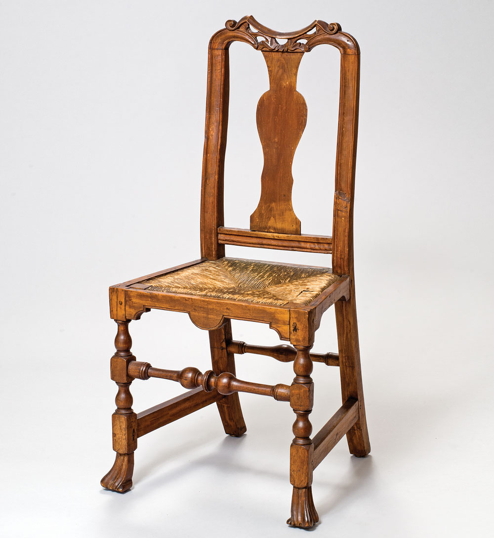 Fig. 2: Side Chair, Attributed To John Gaines III (1704u20131743). Portsmouth,  1735u20131740. H. 39⅞, W. 18¼, D. 19 In. Collection Of Craig And Alison Jewett.