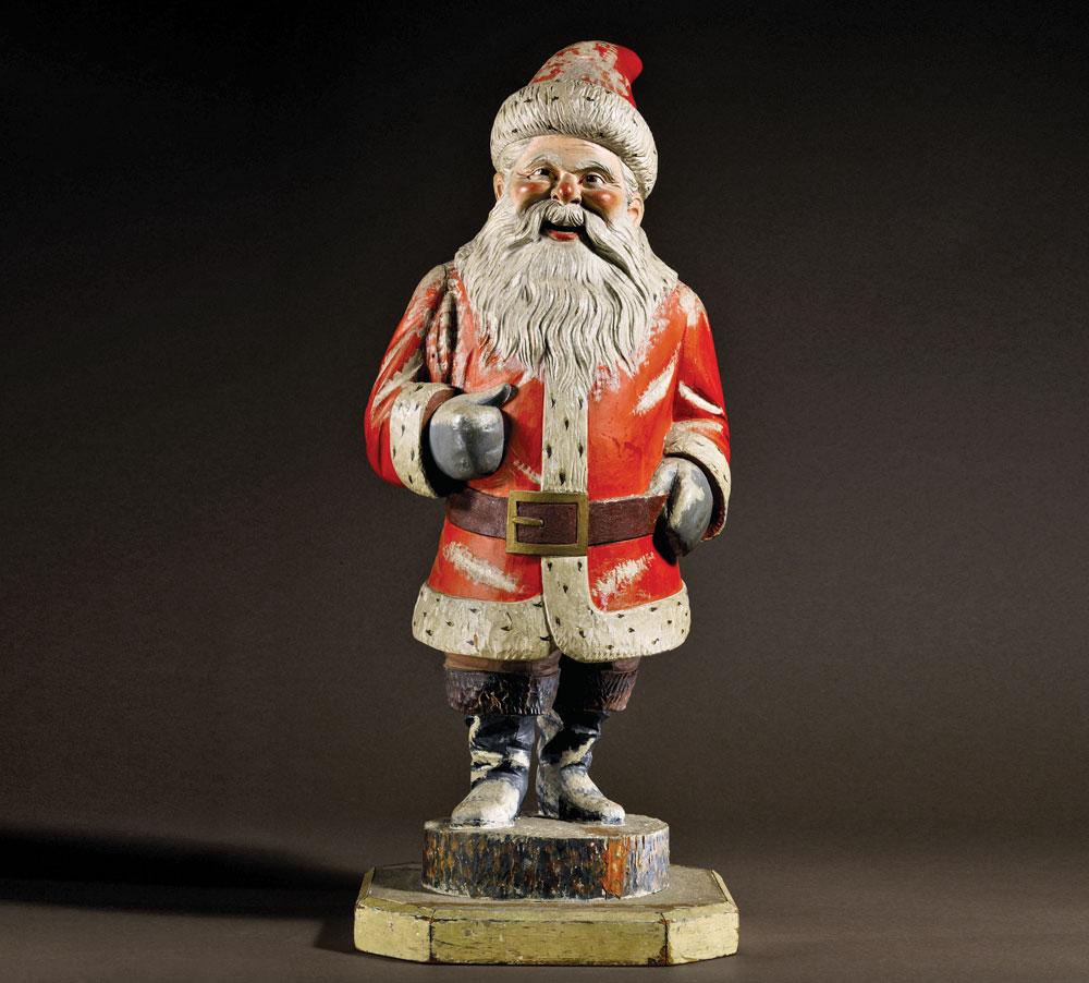 collectible Santa Claus Santa sculpture Santa Claus carved wooden figurine