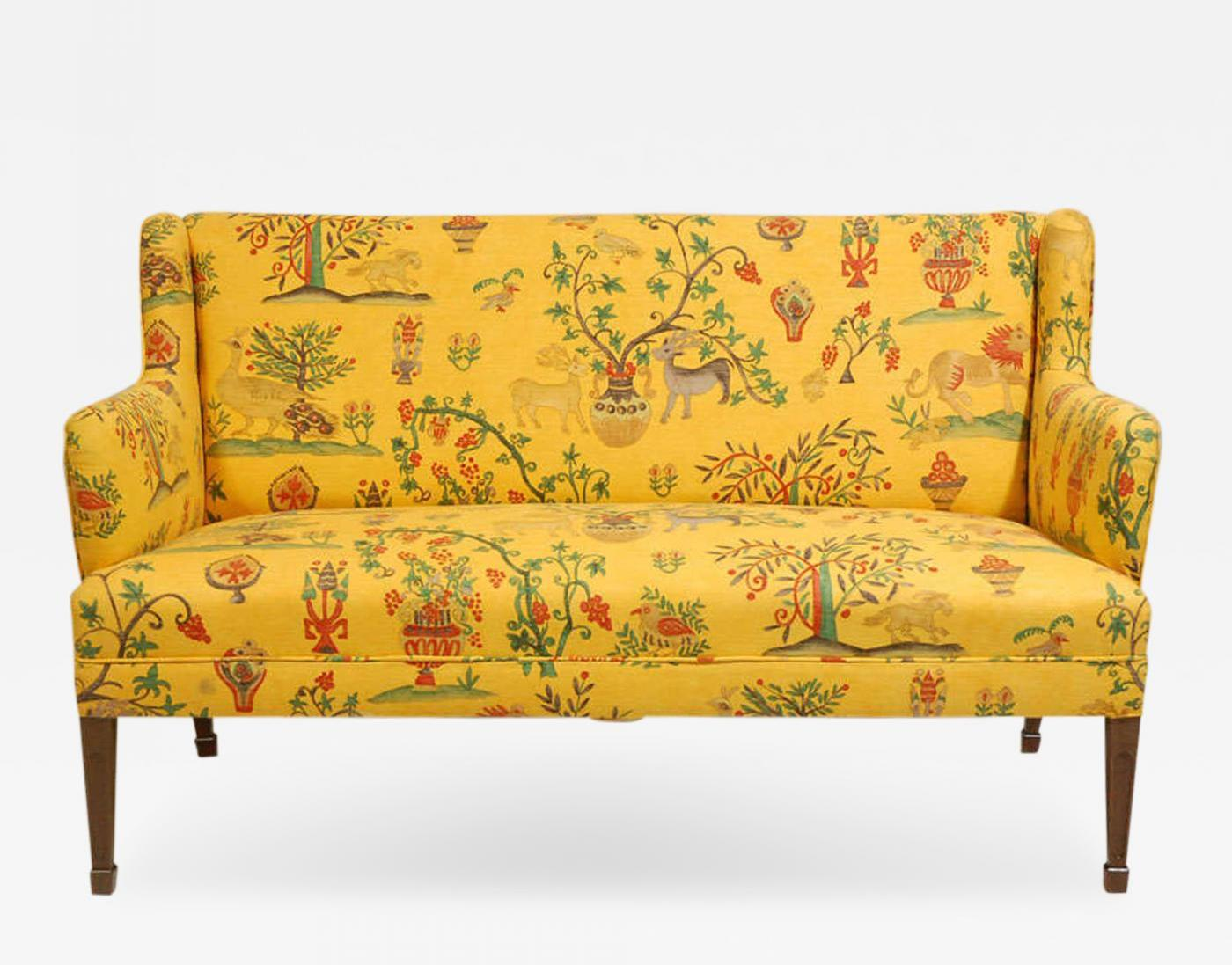 A frits henningsen settee circa 1940s fabric and mahogany offered by denmark 50