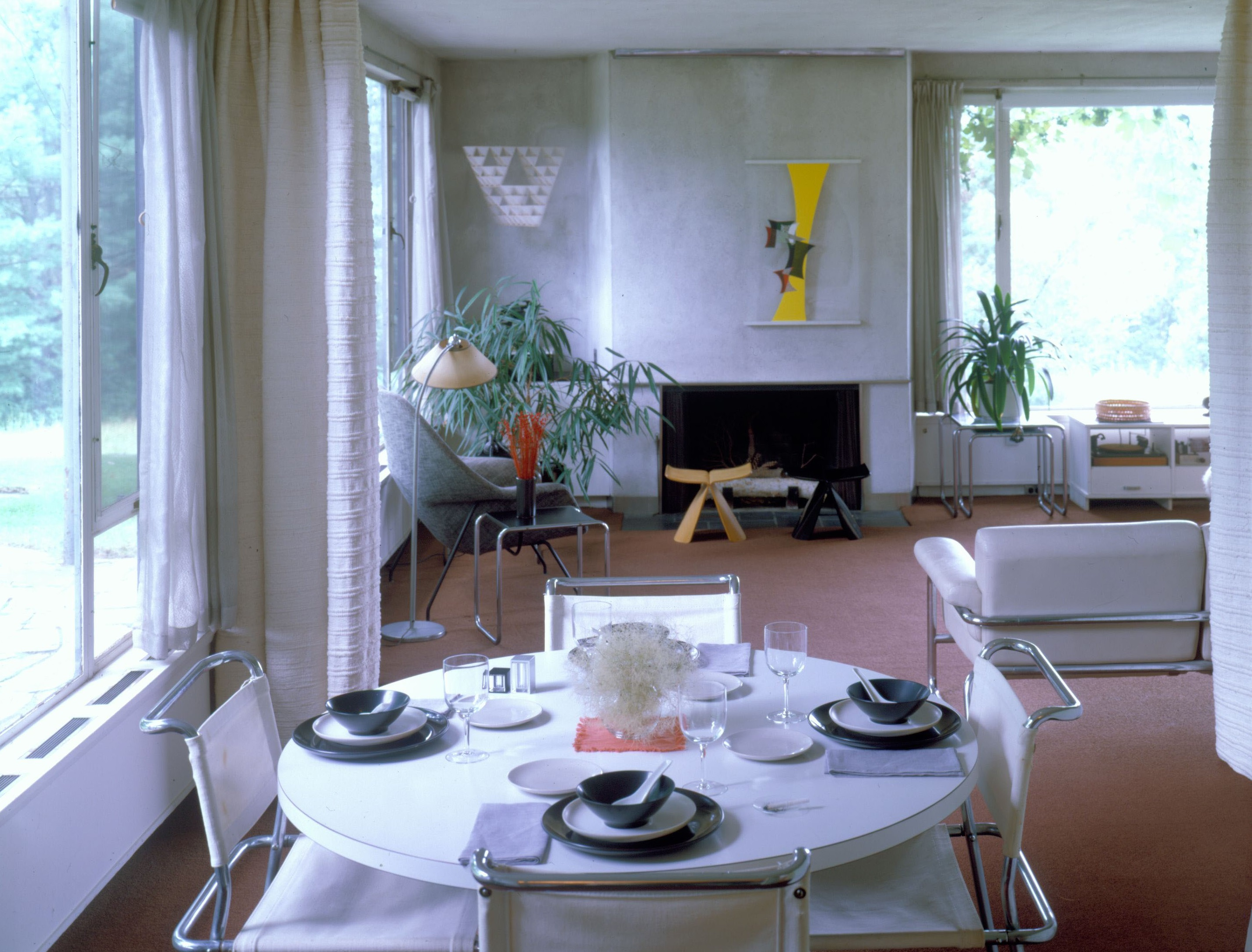 the gropius house interior courtesy of historic new england - Mid Century Modern Homes