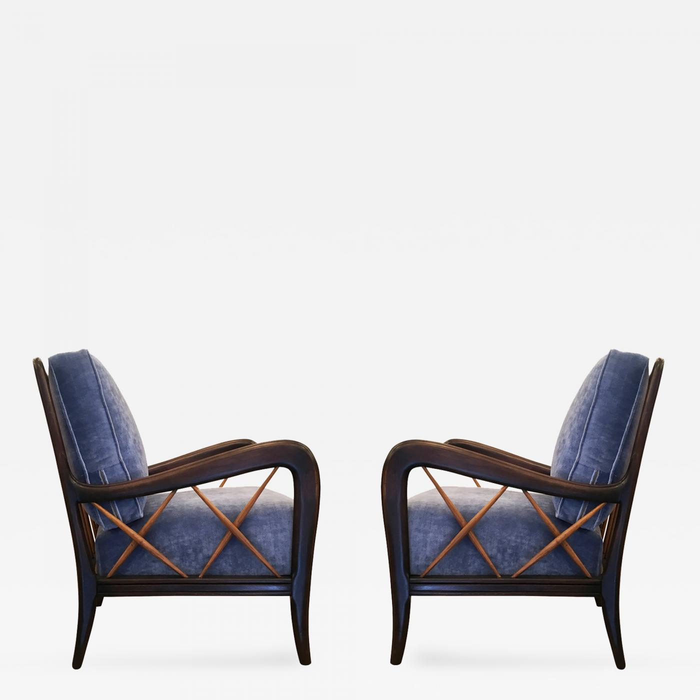 Sculptural Pair Of Armchairs, Italy Circa 1950s. Offered By Gaspare Asaro U2013  Italian Modern.