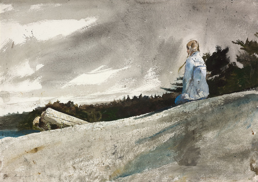 paper wyeth Artist sketching, 1939 watercolor on paper from the andrew and betsy wyeth collection andrew wyeth/artist rights society (ars.