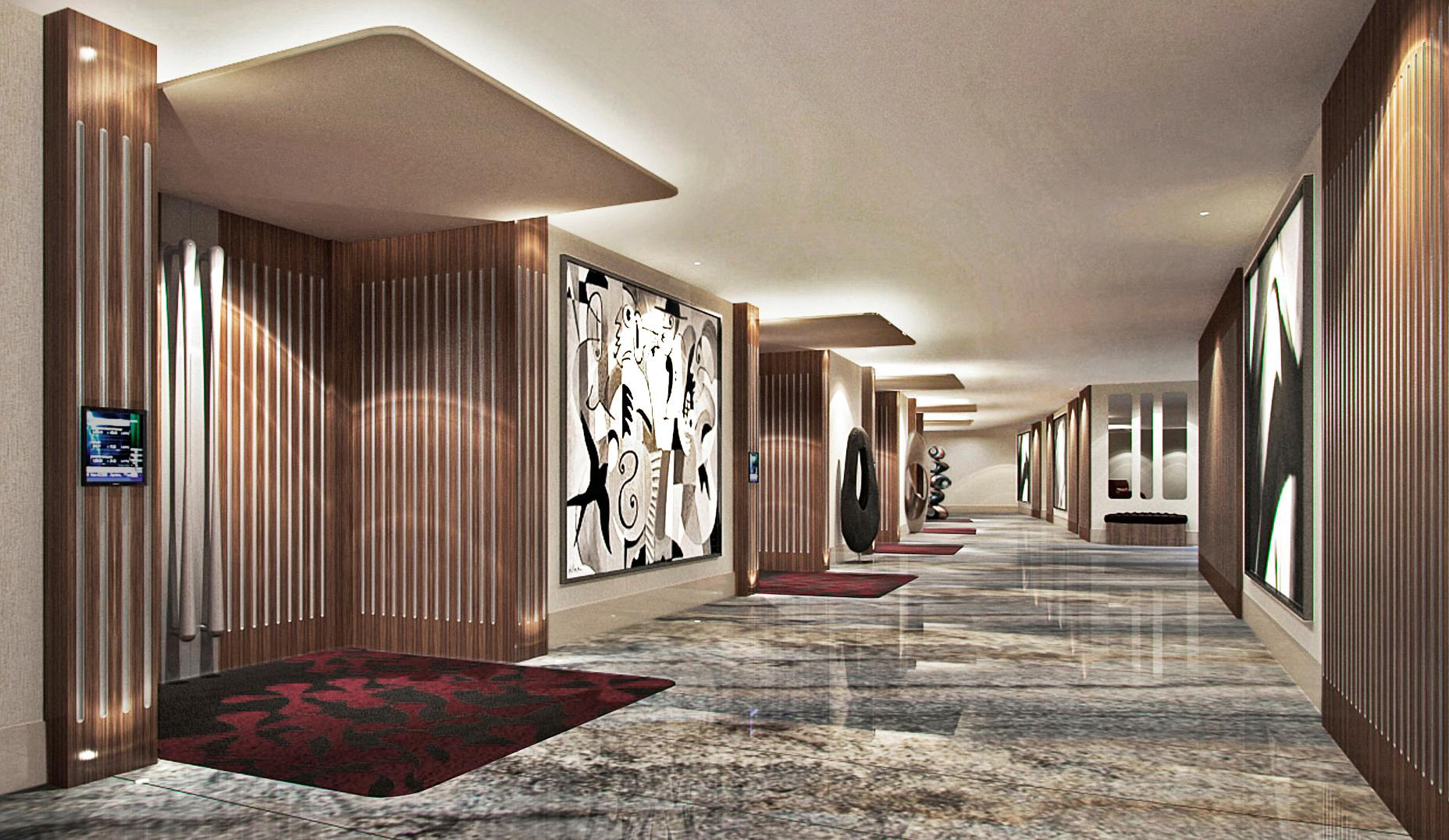 The watergate hotel returns to its mid century modern for Design hotel washington dc