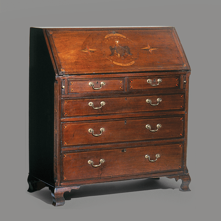 1: Desk, Attributed To Washington County, Tenn., 1808. Walnut And Tulip  Poplar. H. 47½, W. 43, D. 20¼ Inches. Courtesy, Winterthur Museum, Library,  ...