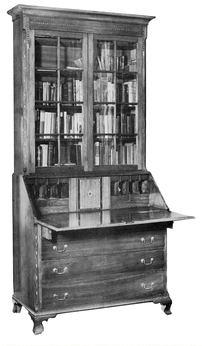 Fig. 1: Desk And Bookcase, Greene County, Tenn., 1790u20131810. Walnut And  Unknown Secondary Wood; H. 96, W. 44½, D. 22⅜ In. Courtesy Of The Magazine  Antiques ...