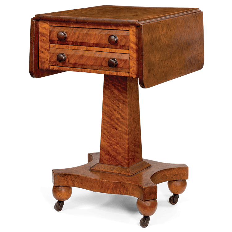 Two Drawer Stand, Nathan Burnell (1790u20131866), Milton, Vt., 1853.  Inscription: Written In Pencil On Proper Right Side Of Bottom Drawer:  U201cNathan Burnell, ...