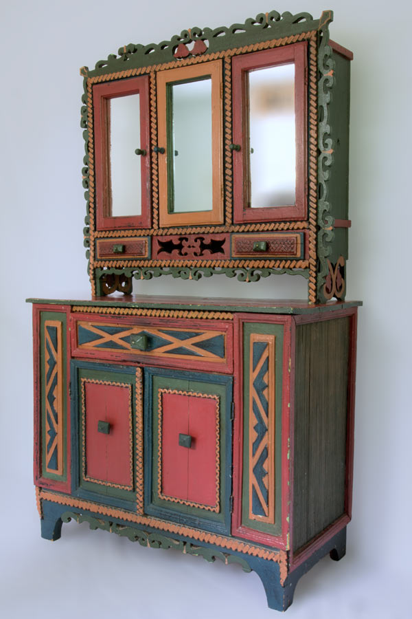 An American Folk Art Paint Decorated Cupboard North Carolina Circa 1920 Offered By Sylvia Antiques