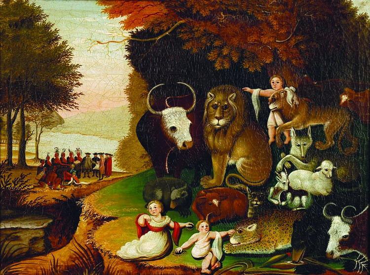 peaceable kingdom essays Isaiah 11:1-9 – the peaceable kingdom summary in the coming messianic kingdom, not only humans, but all god's creatures, will live together in peace and harmony.